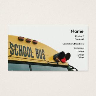 Cartão de visita amarelo do auto escolar