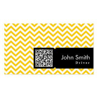 Cartão de visita amarelo do motorista do código do