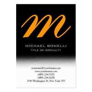 Cartão de visita amarelo preto carnudo na moda do