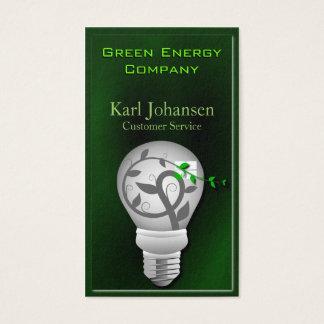 Cartão de visita ambiental da energia verde