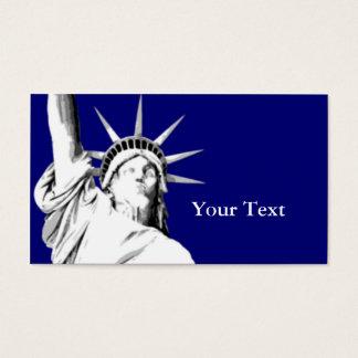 Cartão de visita americano da estátua da liberdade