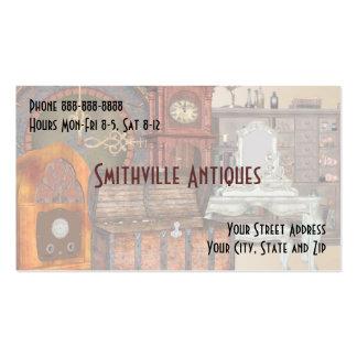 Cartão de visita antigo da loja de móveis
