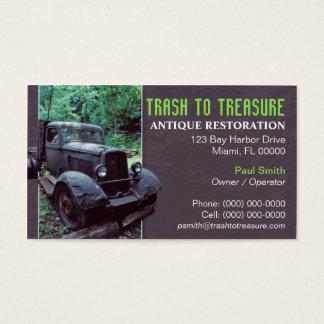 Cartão de visita antigo da restauração