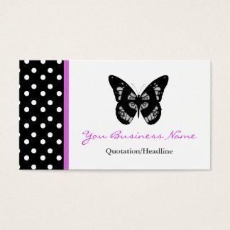 Cartão de visita aparado bolinhas da borboleta