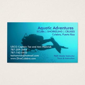 Cartão de visita aquático das aventuras