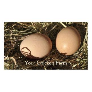 Cartão de visita ar livre dos ovos
