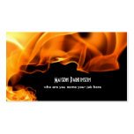 cartão de visita ardente do fogo