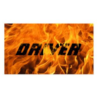 Cartão de visita ardente legal do motorista do fog