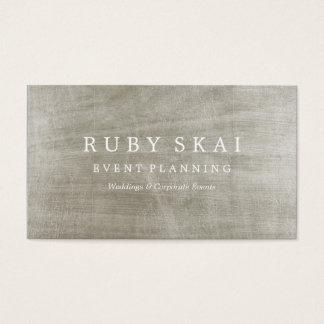 Cartão de visita arquitectónico Textured prata