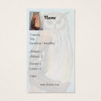 Cartão de visita artístico da coruja de Eagle
