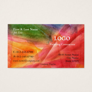 Cartão de visita artístico da Multi-Cor