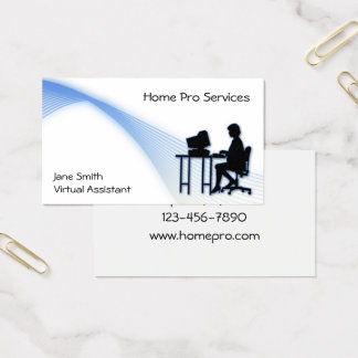 Cartão de visita assistente virtual