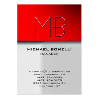 Cartão de visita atrativo vermelho cinzento