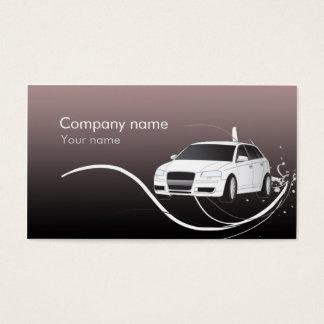 Cartão de visita automotriz à moda