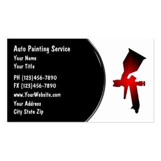 Cartão de visita automotriz da pintura