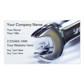 Cartão de visita automotriz do mecânico
