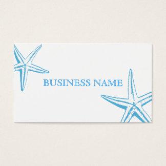 Cartão de visita azul à moda do salão de beleza da