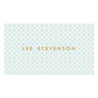 Cartão de visita azul chique