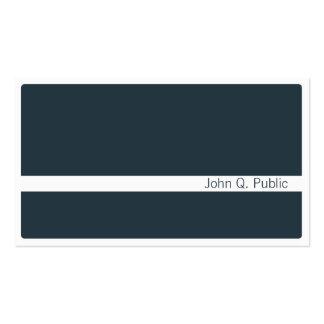 Cartão de visita azul cinzento escuro de Minimalis
