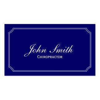Cartão de visita azul clássico do Chiropractor