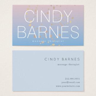 Cartão de visita azul cor-de-rosa do brilho do
