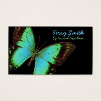 Cartão de visita azul da borboleta