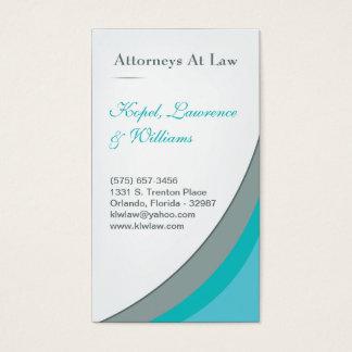 Cartão de visita azul da empresa de advocacia do