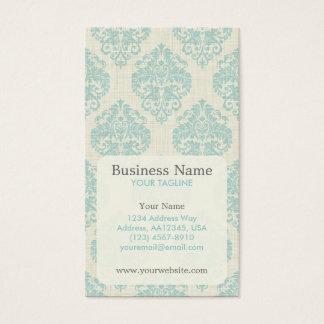Cartão de visita azul da nomeação do damasco