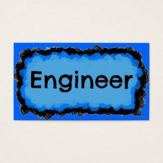 Cartão de visita azul da nuvem do engenheiro