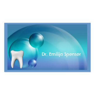 Cartão de visita azul do design da bolha do