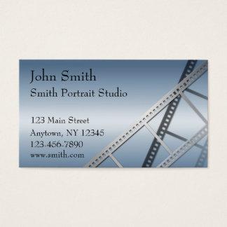 Cartão de visita azul do fotógrafo do inclinação