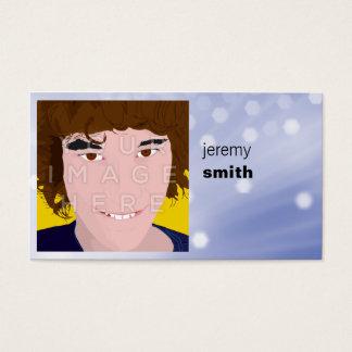 Cartão de visita azul do Headshot do fulgor da