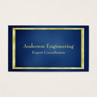 Cartão de visita azul do profissional do quadro do