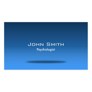 Cartão de visita azul do psicólogo do espaço