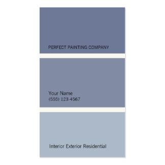 Cartão de visita azul dos pintores
