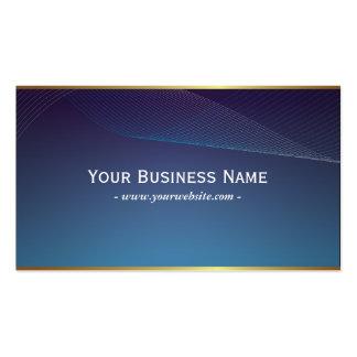 Cartão de visita azul elegante do quadro fino do o