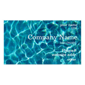 Cartão de visita azul legal da água da piscina