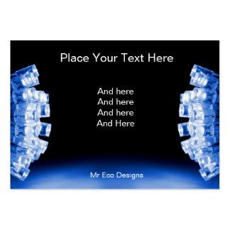 Cartão de visita azul legal das luzes laterais