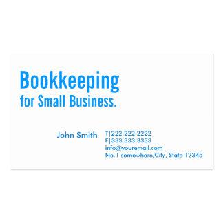 Cartão de visita azul mínimo da contabilidade
