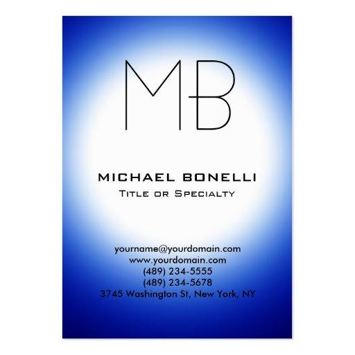 Cartão de visita azul moderno carnudo da luz