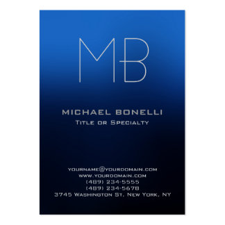 Cartão de visita azul moderno carnudo na moda do f
