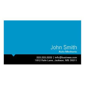 Cartão de visita azul moderno do auto mecânico