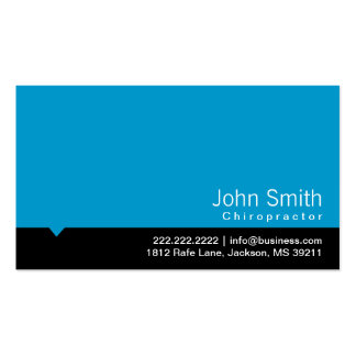 Cartão de visita azul moderno do Chiropractor