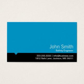 Cartão de visita azul moderno do engenheiro de