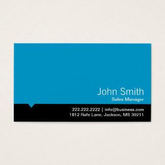 Cartão de visita azul moderno do gerente de vendas