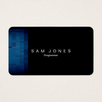 Cartão de visita azul moderno do pixel