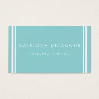 Cartão de visita azul moderno e elegante
