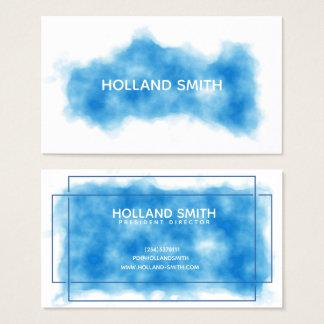 Cartão de visita azul profissional moderno da