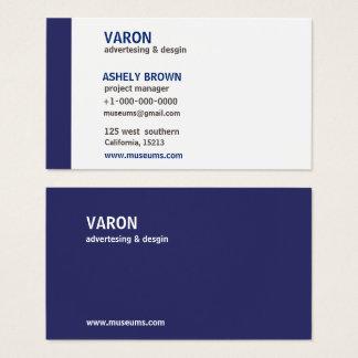 Cartão de visita azul simples moderno profissional