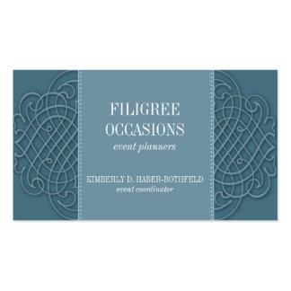 Cartão de visita Azure filigrana da elegância